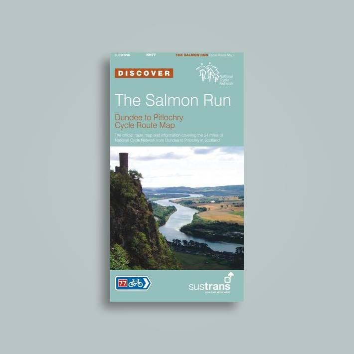 Pitlochry Scotland Map.The Salmon Run Dundee To Pitlochry Sustrans Cycle Route Map