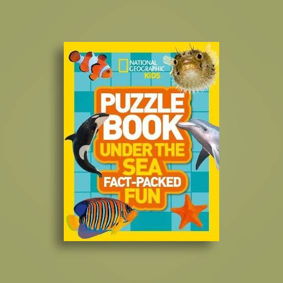 Puzzle Book Under the Sea: Brain-tickling quizzes, sudokus, crosswords and  wordsearches (National Geographic Kids Puzzle Books) - National Geographic