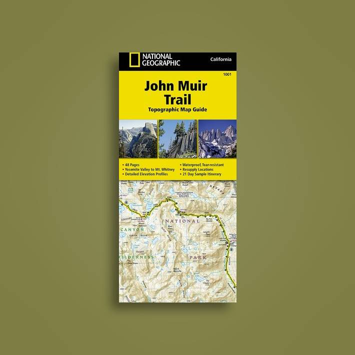 John Muir Trail (topographic Map Guide): National Geographic California -  National Geographic Maps Near Me | NearSt