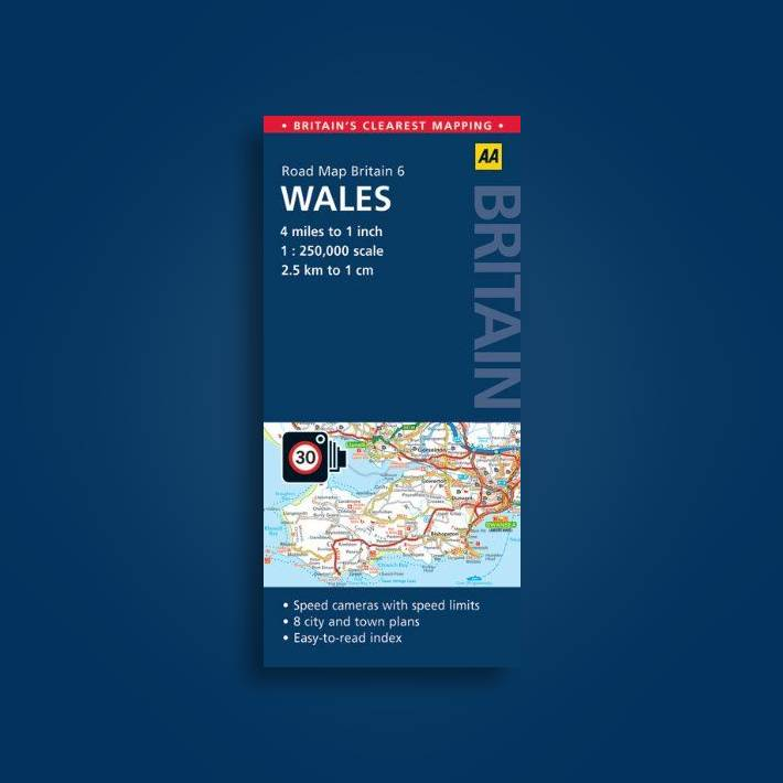 Road Map Of England And Wales With Towns.6 Wales Aa Road Map Britain Undefined Near Me Nearst