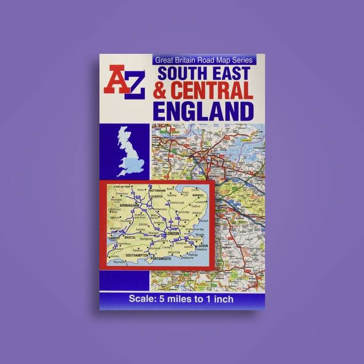 A Z Map Of England.South East Central England Road Map Geographers A Z Map Co Ltd Near Me Nearst