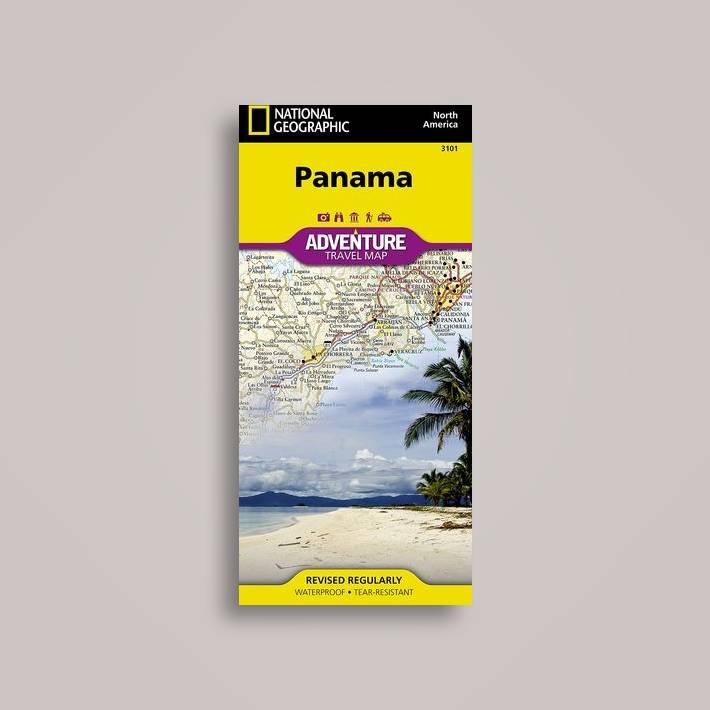 Panama Travel Maps International Adventure Map National - National geographic travel map