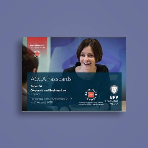 Acca F4 Corporate and Business Law (English): Passcards - BPP