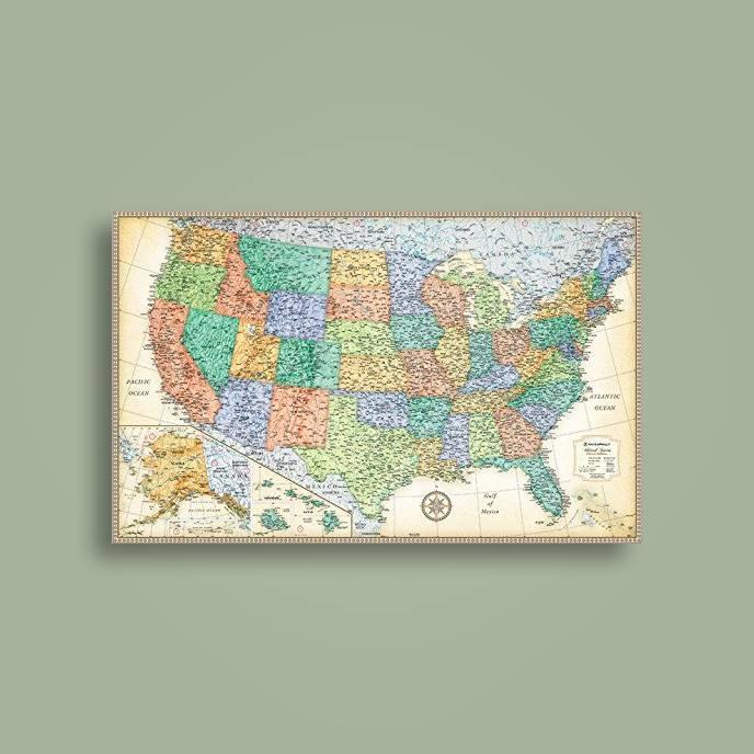 Rand Mcnally Classic United States Wall Map Rand Mcnally Near Me