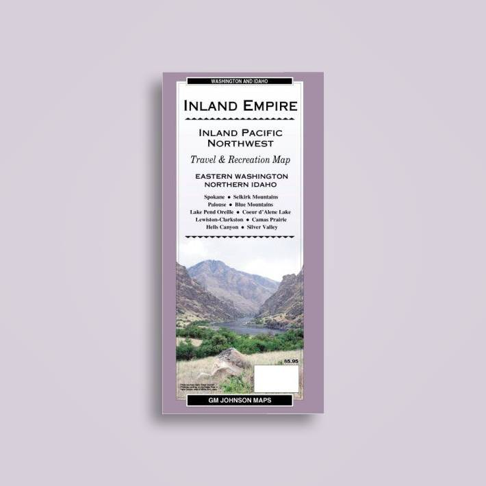 Inland Pacific Northwest / Eastern Washington / Northern Idaho Recreation Map, GM Johnson & Associates Ltd.