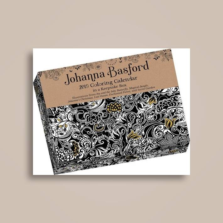 johanna basford 2019 coloring day to day calendar
