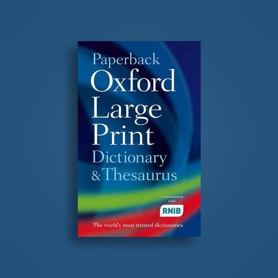 Paperback Oxford Large Print Dictionary and Thesaurus - undefined Near Me |  NearSt