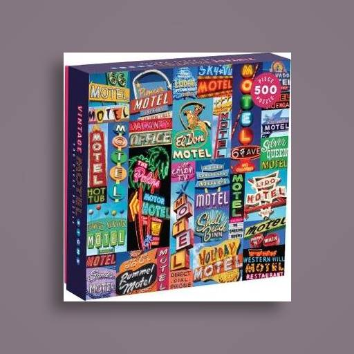 Vintage Motel Signs 500 Piece Puzzle - Galison Near Me | NearSt