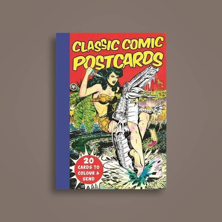 Classic Comic Postcards: 20 Cards to Colour & Send