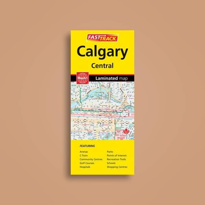 Rand McNally Calgary Easy To Fold Street Map Rand McNally Easy To - Rand mcnally easy to fold maps