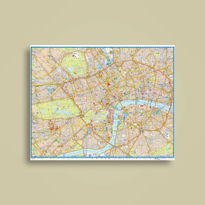 London AZ Super Scale Map Wall Map Encapsulated Geographers - Where can i buy a wall map