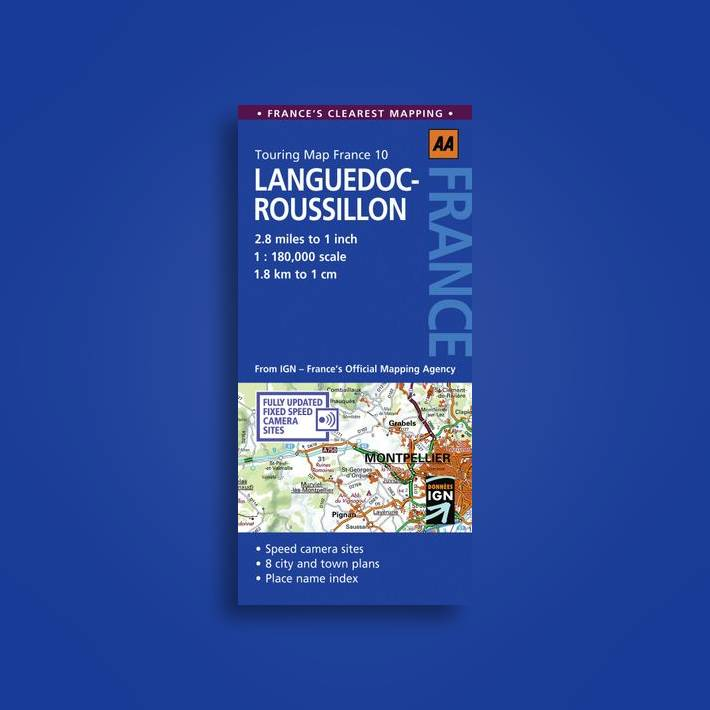 Languedoc-Roussillon: AA Touring Map France: No. 10 - AA Publishing Near Me  | NearSt
