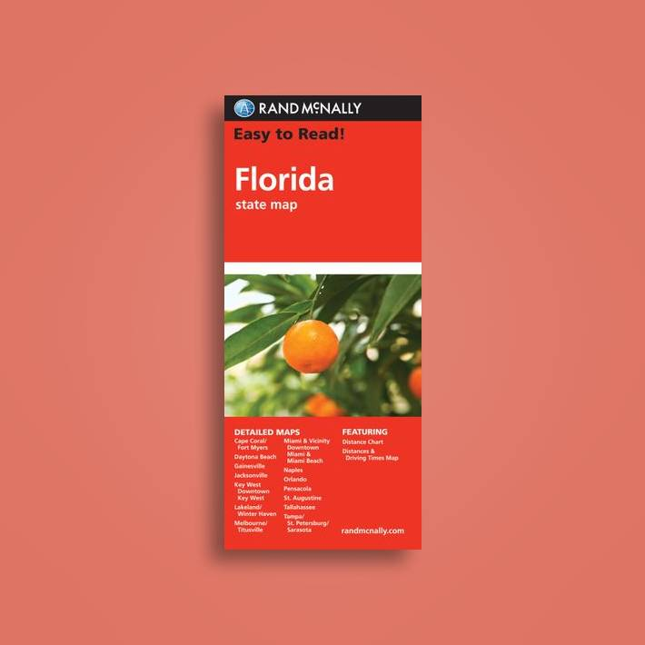 Rand Mcnally Map Of Florida.Rand Mcnally Easy To Read Florida State Map Rand Mcnally Near Me