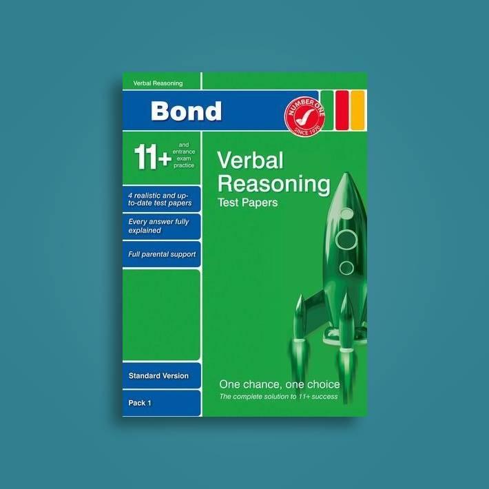 Bond 11+ Test Papers Verbal Reasoning Standard Pack 1 - Frances Down Near  Me | NearSt