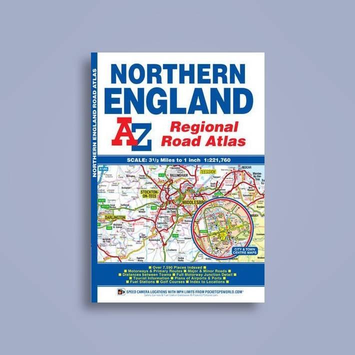A Z Map Of England.Northern England Regional Road Atlas Geographers A Z Map Company Near Me Nearst