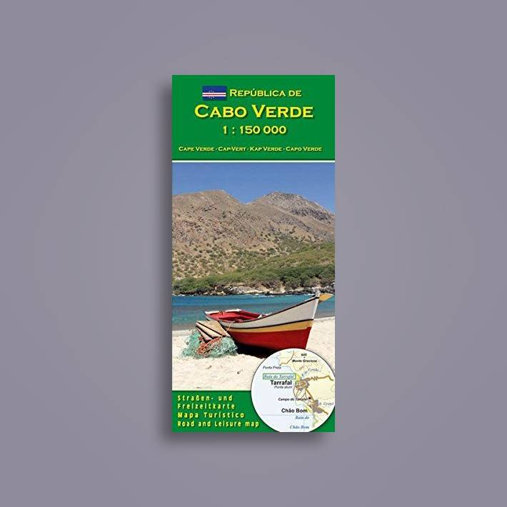 Map Republica de Cabo Verde 1150000 Cape Verde road and leisure