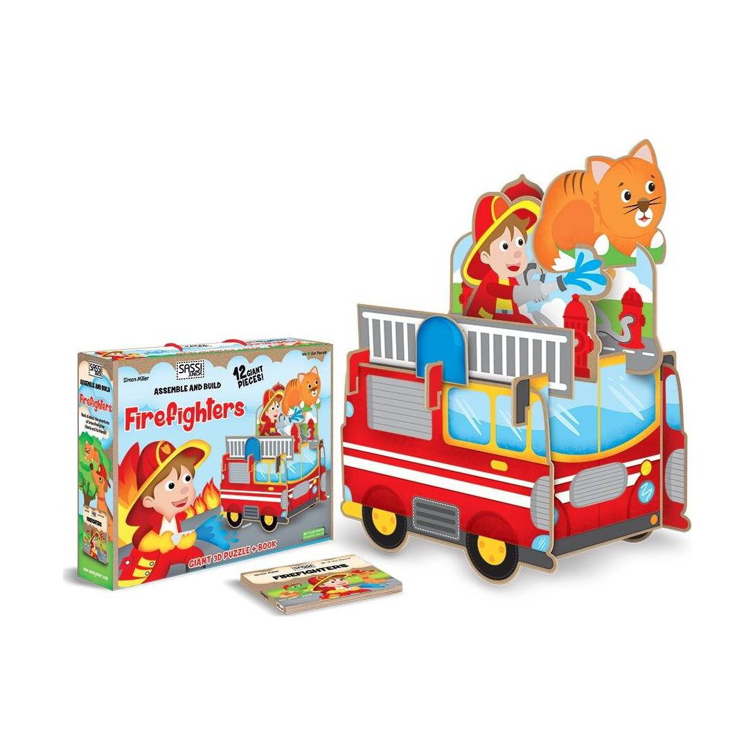"Sassi ""Assemble and Build Firefighters"" 3D Puzzle (Puzzle & Book)"