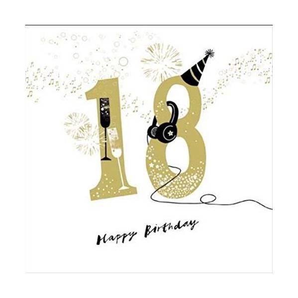Woodmansterne 18th Headphones Birthday Card