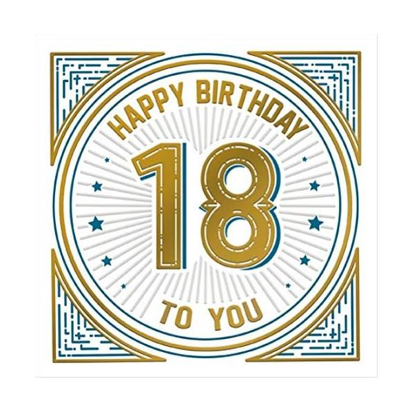 Happy 18th Birthday Odyssey Greeting Card Foiled Embossed Male Cards