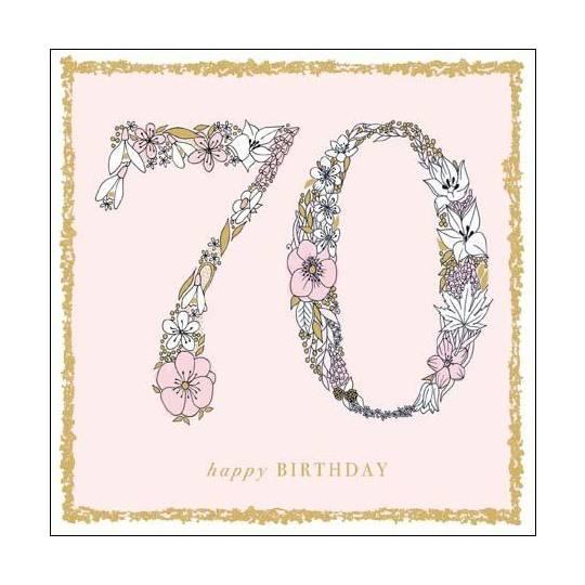 Greeting Card WDM0117 Female 70th Birthday