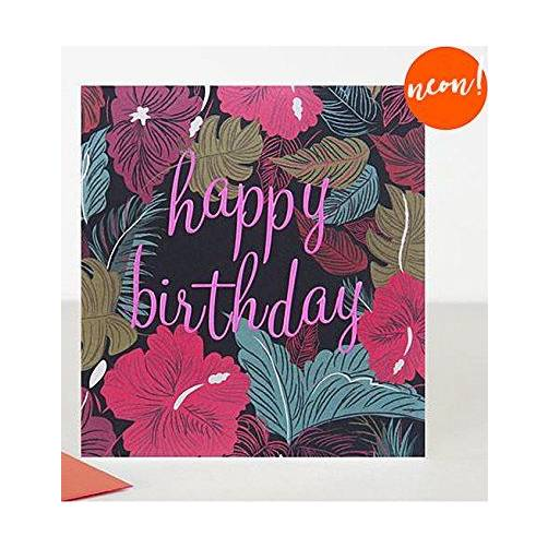 Dark Floral Happy Birthday Cards By Caroline Gardner TLY002