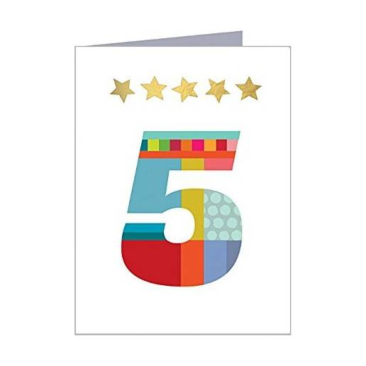 Age 5 Birthday Cards For Boys And Girls By Kali Stileman KTW05