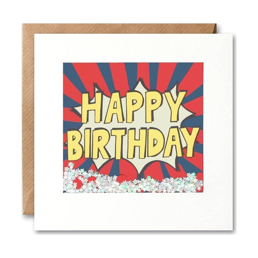 James Ellis Kapow Shakies Happy Birthday Card