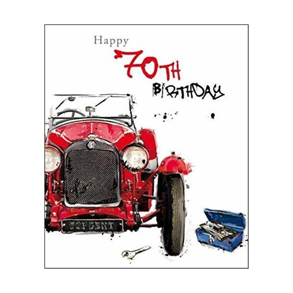 Male 70th Birthday Greeting Card Just Josh Range Cards For Him