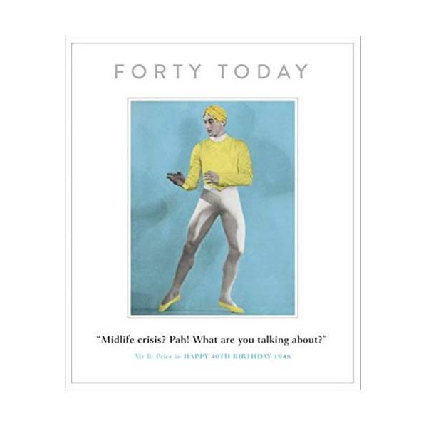 40th Birthday Funny Drama Queen Greeting Card Retro Humour Cards