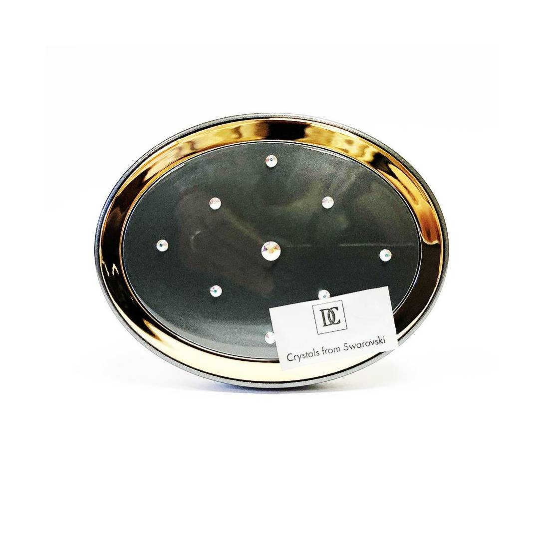 Danielle Creations Crystals from Swarovski Oval Scatter Compact Mirror,  Rose Gold/Pearl Grey/Pearl Violet Near Me | NearSt