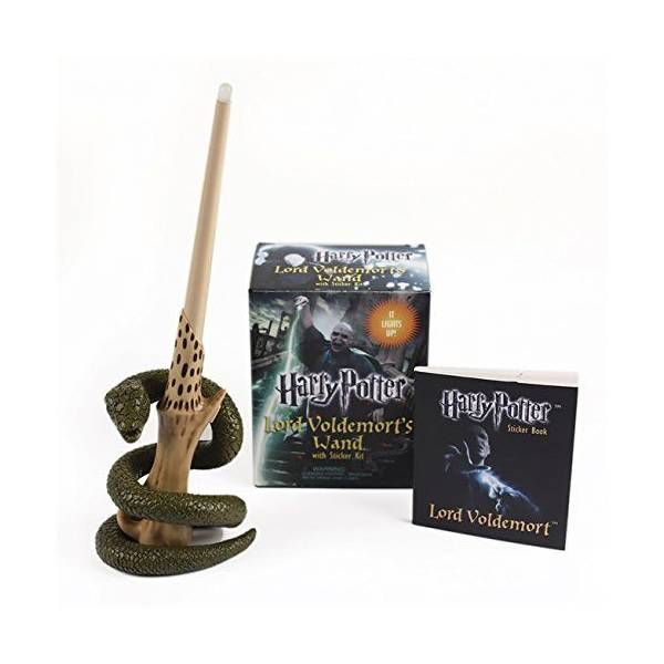 Harry Potter Voldemort's Wand with Sticker Kit: Lights Up! - Running Press  Near Me | NearSt