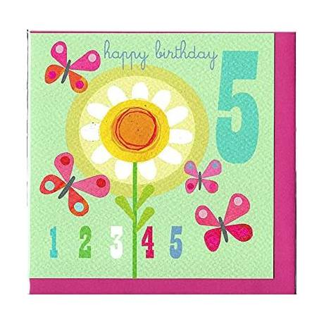 Flowers 5th Birthday Cards For Girls By Kali Stileman Ja10