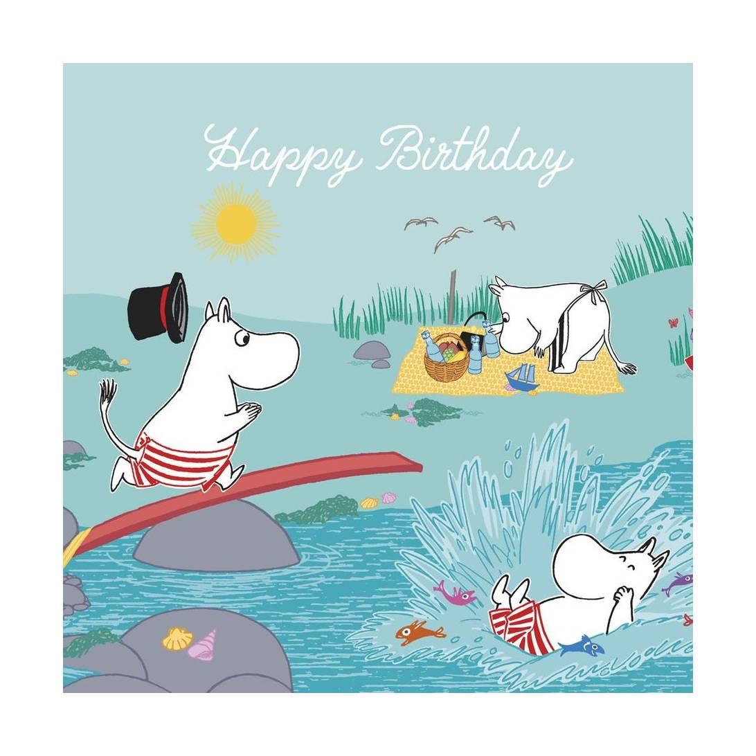 Hype Moomin Blank Birthday Card Splash