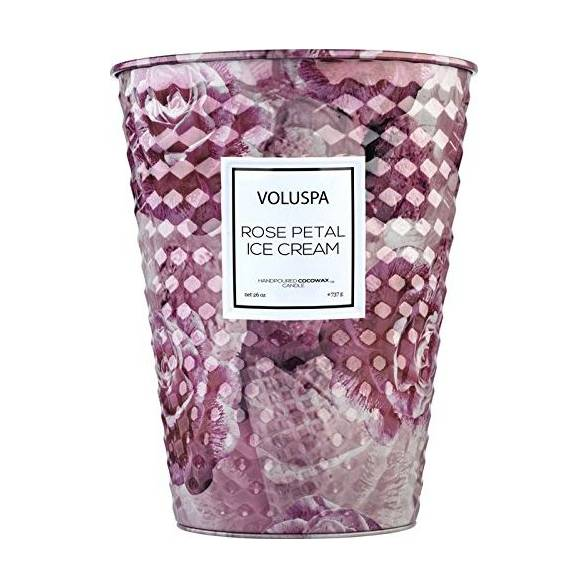 Voluspa New Rose Petal Ice Cream 26 Ounce 2 Wick Candle Near Me | NearSt