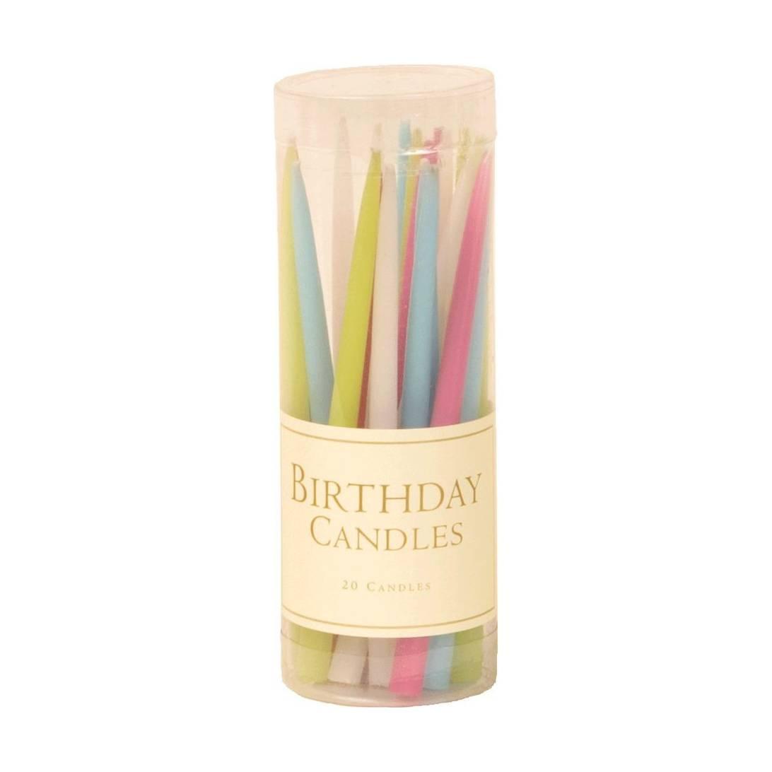 Caspari 3 Inch Birthday Candles Set Of 20 Pastels