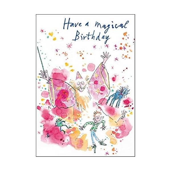 Quentin Blake Magical Birthday Greeting Card Popular Range Greetings Cards
